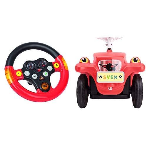 BIG 800056459 - Bobby cars, Zubehör Verkehrssounds Wheel, schwarz, rot & BIG-Bobby-Car Mein Nummernschild