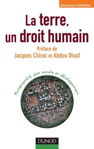 La terre, un droit humain - Micropropriété, paix sociale et développement