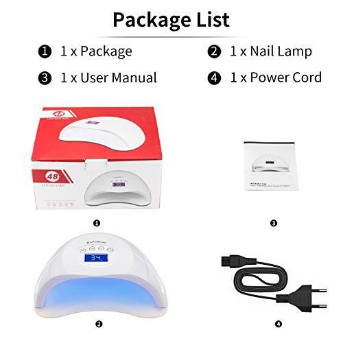 Härtungsgerät – Nagel Lampe mit 4 Timer und LCD Display - 8