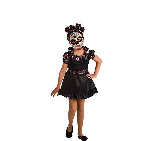 EL REY DEL CARNAVAL, SL Catrina Tod Kostüm für Mädchen P2-(6/7 - La Catrina Kostüm Mädchen