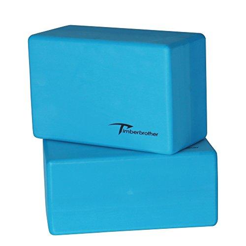 Timberbrother 2er-Set Yoga Bl?cke / Yogablock - W?hlen Sie Ihre Farbe und Gr??e (Blau, 23 x 15 x 10.1cm (2pc))
