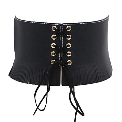 Moda con vestido punk con flecos señoras de pu cintura ancha...