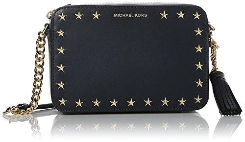 Michael Kors Damen Ginny Md Camera Bag Umhängetasche, Blau (Admiral), 7x14x22 centimeters