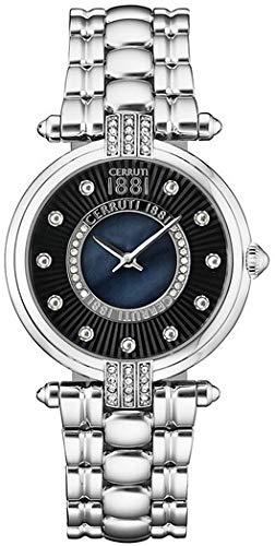 CERRUTI Reloj Analógico para Mujer de Cuarzo con Correa en Acero Inoxidable CRM140SN02MS
