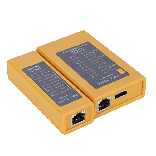 Bewinner RJ45 Netzwerkkabel Tester, LAN Tester Kit Tragbarer HDMI High Definition Digitaler Kabeltester Tester RJ45 Kabel Tester Tracker für dauerhaft kurzgeschlossene gekreuzte Drahtpaare Digital-batterie-tester-kit