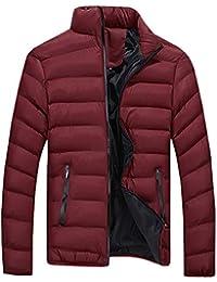Homme Manteau Col Montant Jacket Veste Chaud en Duvet Doudoune Blouson c91d7b8774e