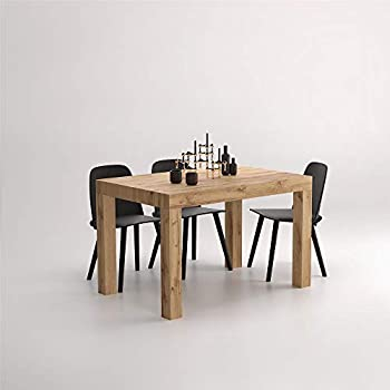 Mobili Fiver, Extending Table First, Rustic Wood, 120 x 80 x 76 cm, Made in Italy