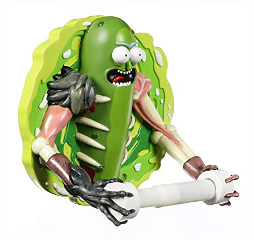Nemesis Now B4417M8 Pickle Rick - Portarrollos de papel higiénico (22,5 cm), color verde
