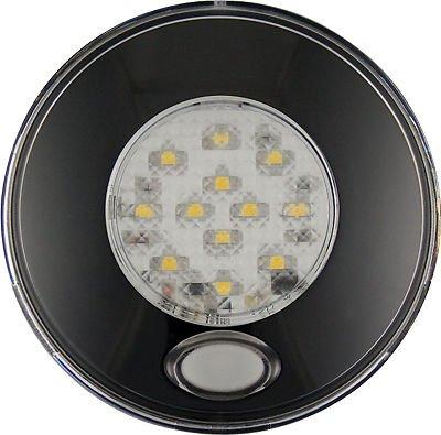 12 V LED Autolamps rond ampoule Intérieur Jour/Nuit Blanc/rouge Bouton poussoir Light - 79bwr12