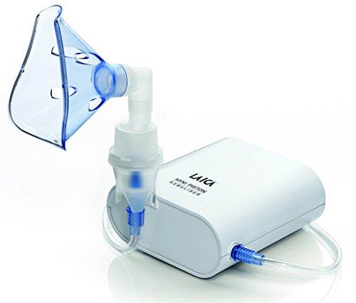 Laica - Mini Nebulizador Aerosol de pistón - Extremadamente silencioso - Color blanco