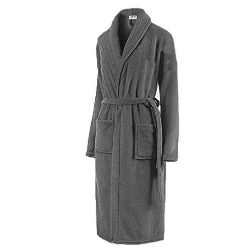 Lieberspaar verdickt Nachthemd Negligee Pyjama aus weiche Flanell Nachtwäsche Kleid für Damen und Herren