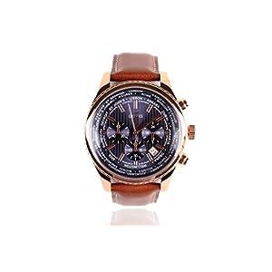 Reloj Guess para Hombre Reloj para Hombre W0500G1 Cronógrafo – Correa de Cuero marrón – Dial Azul