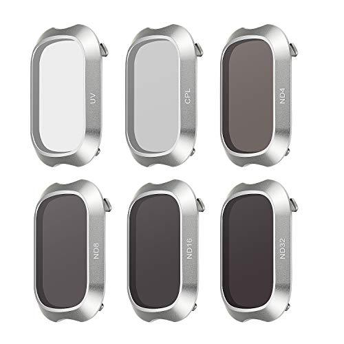 FEPITO 6 Pack Linsen Filter Multi Beschichtete Filter für DJI Mavic 2 Pro, ND4 ND8 ND16 ND32 UV CPL, DJI Mavic 2 Pro Zubehör -