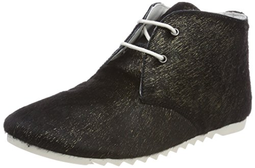 Maruti Damen Ginny Hairon Leather Stiefeletten Schwarz (Misty Black/Gold)