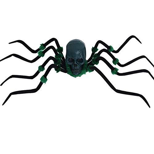 WSJDE Große spinne Scary Spielzeug Tier Horror Halloween Requisiten Dekoration für Frauenmänner Kind Party Horror Requisiten leuchten Augenelektrischelv se