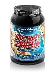 IronMaxx 100% Whey Protein - Eiweißshake-Pulver mit 100% Whey Konzentrat - Proteinpulver Cookies und Cream Geschmack - 1 x 900 g Dose