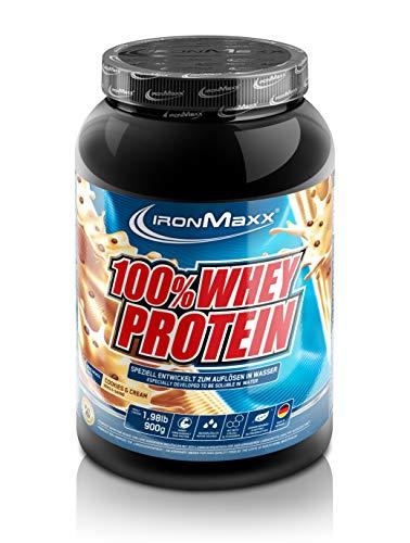 Pulver-konzentrat (IronMaxx 100% Whey Protein - Eiweißshake-Pulver mit 100% Whey Konzentrat - Proteinpulver Cookies und Cream Geschmack - 1 x 900 g Dose)