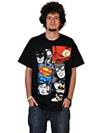 Justice League - Men At Work T-Shirt - Black