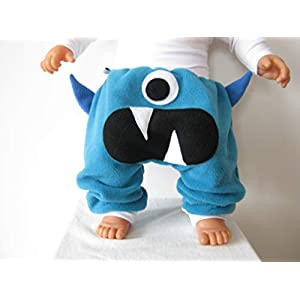 baby mitwachs hose monster türkis fleece pumphose ab gr. 62-80