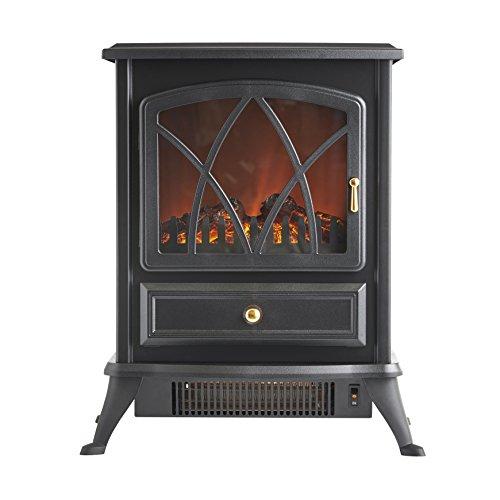 vonhaus electric stove heater with log burner flame effect. Black Bedroom Furniture Sets. Home Design Ideas