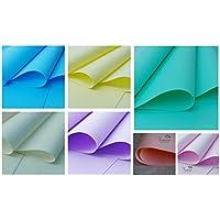Pastel Mix flores de foamiran hacer espuma - 8 hojas en una selección de colores - 30 cm x 35 cm - selección de colores