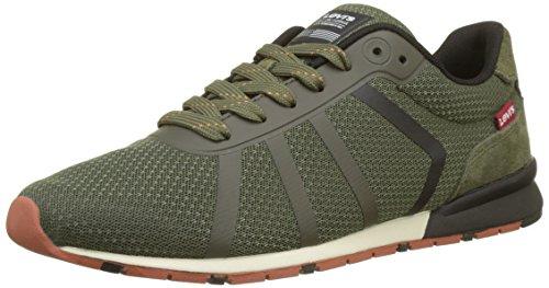 Levi's Herren Almayer Lite Sneaker, Grün (Dark Khaki 37), 44 EU