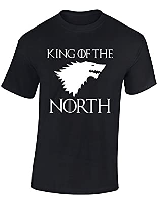 'KING OF THE NORTH' Game of Thrones Inspired Gift For Men & Teenagers T-Shirts Tops
