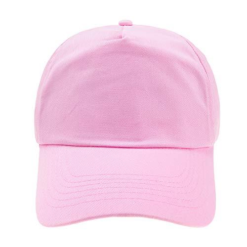 l 5 Panel Cap Unisex Jungen Mädchen Mütze Baseball Cap Hut Kinder Kappe (Pink) ()