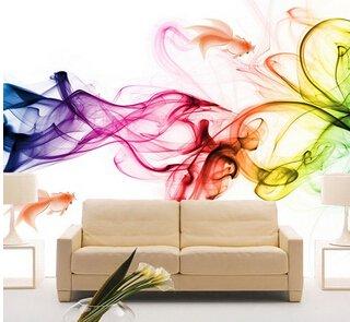 300x250cm Benutzerdefinierte Fototapete Moderne 3D Wandbild Tapeten Farbe Rauch Nebel Art Design Schlafzimmer Büro Wohnzimmer Wand Papier, Farbe 1, Benutzerdefiniertes Format -