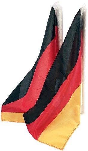 PEARL Deutschland Fahne: Autofahnen-Set Deutschland, 2er-Set (Deutschland-Flagge)