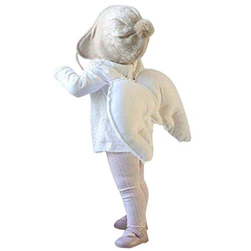 ugeborenen Fotografie Zubehör Baby Foto Requisiten Baumwolle Outfits Kostüme für Kleinkinder Jungen Mädchen Geschenke (Weiß) (Kleinkind Angel Wings)
