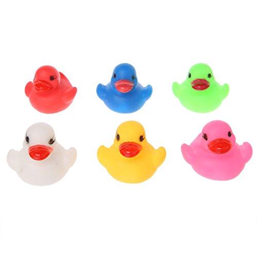 Lamdoo LED blinkendes Licht Gummi schwimmende Ente Badewanne Dusche Spielzeug für Kinder Kinder