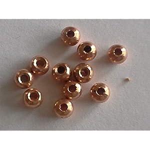 Fliegenbinden Kopfperlen kupferfarben 3,5mm, 50Stück