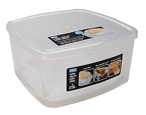 Novo Kuchen Toilettenpapierrollen mit 2Way Kuchen Lifter/Kuchen, Ständer, Transparent