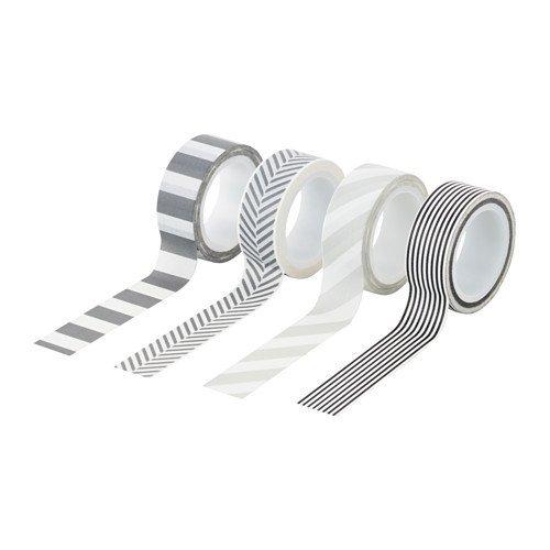 Ikea fullfölja adhesivo Olle en gris/negro/blanco; (5m); 4unidades)