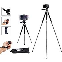 Fotopro 39.5 Zoll Handy Stativ, Kamera Ständer, Kamera Stativ, Aluminum Reistativ mit Bluetooth-Fernbedienung, Handyadapter und Stativtasche