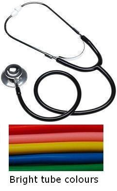 Giallo tubo doppia testa Stetoscopio clinico Medici e infermieri