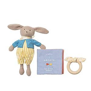 Manhattan Toy 217860 - Muñeca de Conejo, Libro Suave y mordedor de Madera para bebé