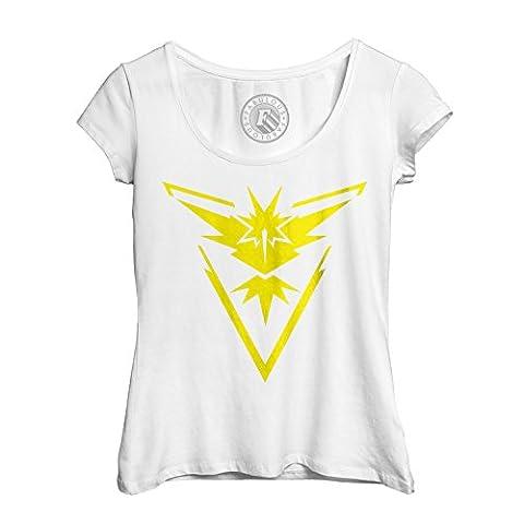 T-shirt Femme Col Rond Echancré pokemon go equipe intuition jeux video geek