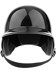 Casco De Bateo NOCSAE Cert. Favorable Béisbol / Softbol Casco De Doble Solapa - Negro