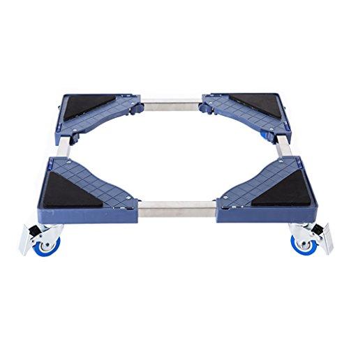 SYF Homebase, Abnehmbare Verstellbare Basis, 4 Fuß Drehsperrenrad Für Waschmaschine Trockner Kühlschrank Klimaanlage (grau) A+