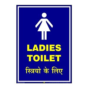 Mr. Safe Ladies Toilet Sign PVC Sticker A3 (11.7 inch X 16.5 inch)