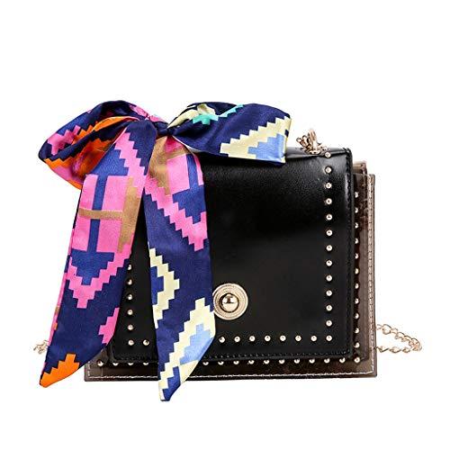 XZDCDJ Crossbody Tasche Damen UmhängeTaschen Daypacks Mode Dame Seidenschal transluzente vielseitige Umhängetasche Messenger Bag (Kochen-kits Für Mädchen)