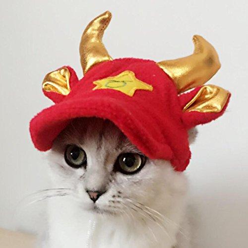 LDFN Tier Mode Freizeit Mütze Dressing Kappen Hüte Haustier Geschenk Mehrfarben Ein Satz (Im Hut Katze Dressing)