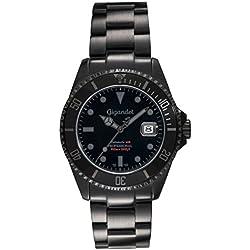 Gigandet G2-010 Sea Ground Montre de plongée Automatique à Affichage analogique et Bracelet en Acier Noir