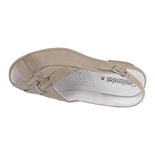 Comfortabel Damen Sandalette Taupe