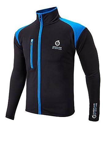 Sunderland Fleece Lined Full Zip Golf Jacket Black/Mid Blue Small