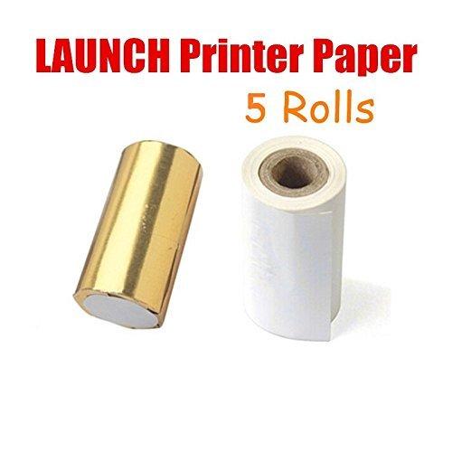 autool Launch X431Drucker Papier Thermopapier für Launch X431Master/Diagun/GX3/Werkzeug Drucker Papier 5Rollen