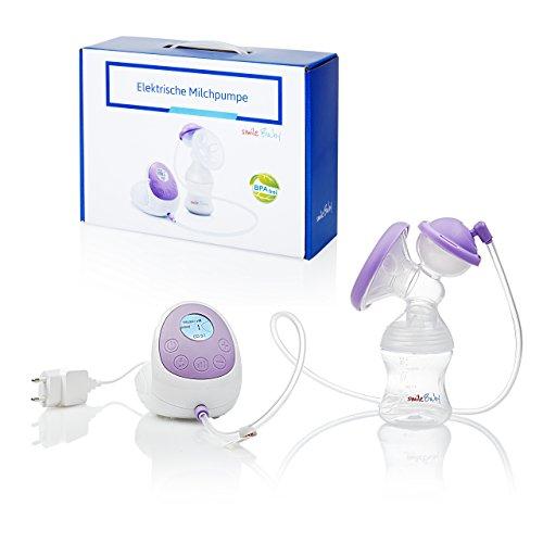 smileBaby elektrische Milchpumpe elektronische Brustpumpe Einzelmilchpumpe zum Stillen Set mit...