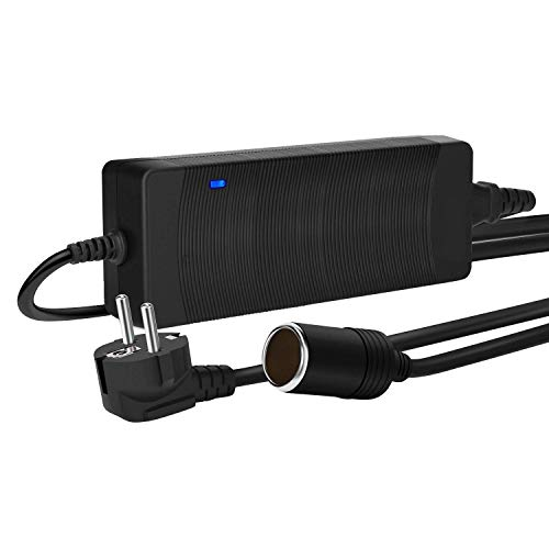 TOOGOO Spannungswandler KFZ Netzadapter AC-DC Netzteil Adapter Stromwandler 200V 230V bis 240V auf 12V Zigarettenanzünder Netz-Adapter KFZ-Ladeadapter 10A 120W, EU-Stecker